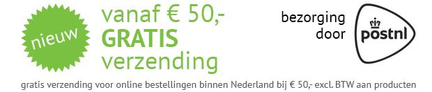 gratis verzending kit vanaf 50 euro op kitcentrum.nl