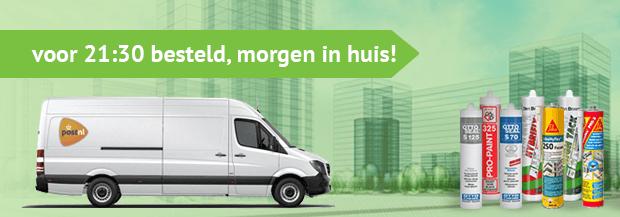 voor 21:30 besteld, morgen in huis voor alle bestellingen op kitcentrum.nl