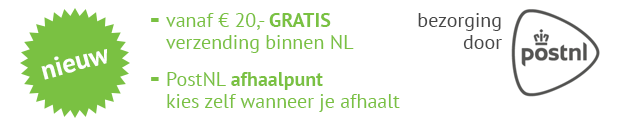 gratis verzending kit vanaf 20 euro op kitcentrum.nl