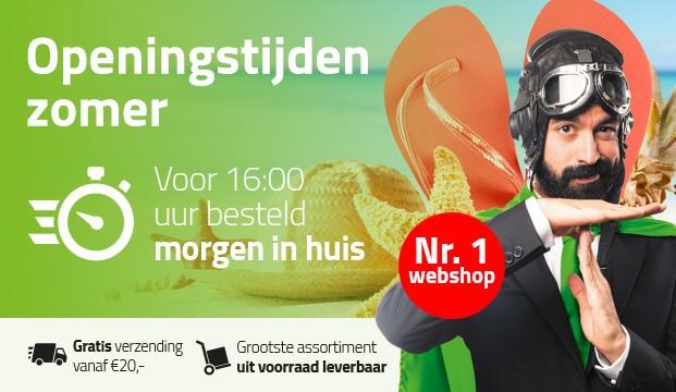 zomer openingstijden 2019 Kitcentrum.nl - bestel voor 16:00u, morgen in huis