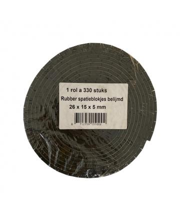 Neopreen blokje zelfklevend 26x15x5mm rol 330st