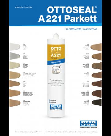 Ottoseal A221 Parkett Kleurenkaart