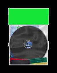 Glaszet setje 4x9mm grijs / zwart (24)