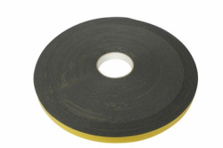 DZ tape 10x3mm grijs rol 25mtr