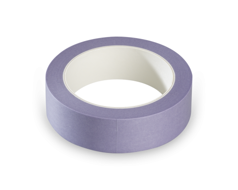 Washi tape Paars 25mm rol 50mtr