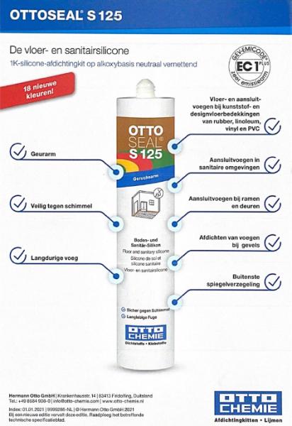 Ottoseal S125 Kleurenkaart klein