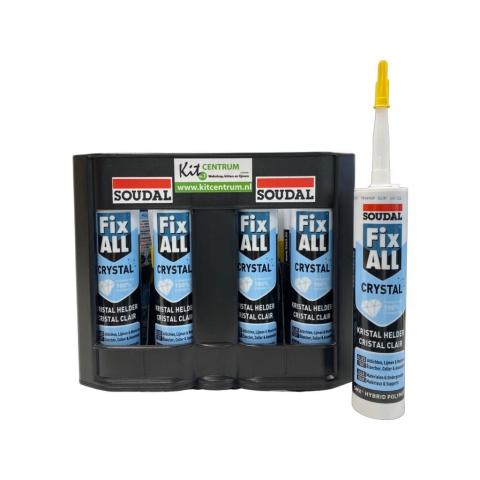 Soudal Fix All Crystal 12x 290ml + Kit kratje