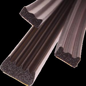 Kroonband 10x6mm rol 100mtr zwart